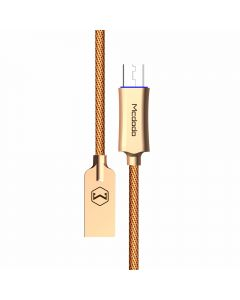Cablu MicroUSB Mcdodo Auto Disconnect Gold (1m, QC3.0, led indicator)