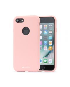 Husa iPhone 8 Meleovo Liquid Silicone Jacket Pink (touch ultrasoft, catifelat)