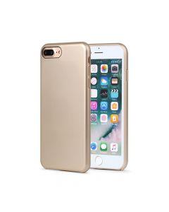 Carcasa iPhone 8 Plus Meleovo Pure Gear II Gold (culoare metalizata fina, interior piele intoarsa)