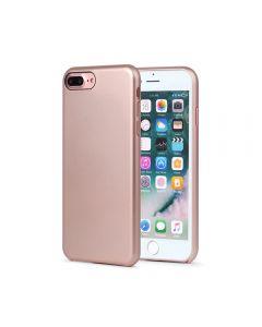 Carcasa iPhone 8 Plus Meleovo Pure Gear II Rose Gold (culoare metalizata fina, interior piele intoar
