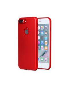 Carcasa iPhone 8 Plus Meleovo 360 Shield Red (culoare metalizata fina, captuseala din microfibra)