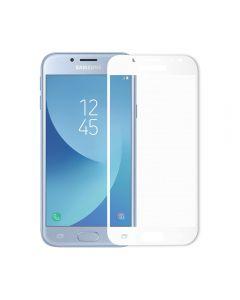 Folie Samsung Galaxy J3 (2017) Meleovo Sticla Full Cover White (2.5D, 9H, oleophobic)