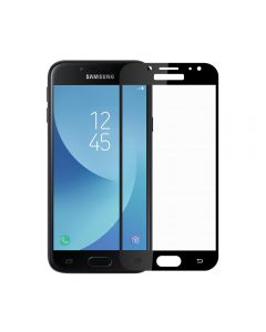 Folie Samsung Galaxy J7 (2017) Meleovo Sticla Full Cover Black (2.5D, 9H, oleophobic)
