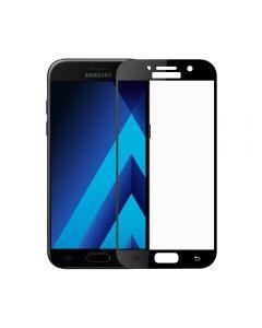 Folie Samsung Galaxy A3 (2017) Meleovo Sticla Full Cover Black (2.5D, 9H, oleophobic)