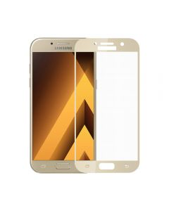 Folie Samsung Galaxy A3 (2017) Meleovo Sticla Full Cover Gold (2.5D, 9H, oleophobic)