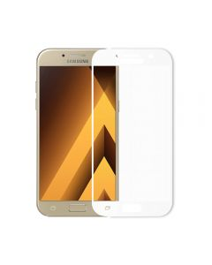 Folie Samsung Galaxy A5 (2017) Meleovo Sticla Full Cover White (2.5D, 9H, oleophobic)