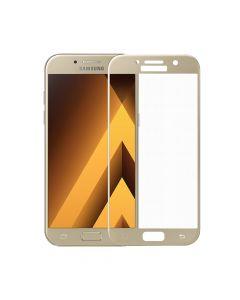 Folie Samsung Galaxy A5 (2017) Meleovo Sticla 3D Defense Curved Gold (3D, 9H, oleophobic)
