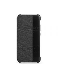 Husa Huawei P10 Plus Meleovo Book Smart View Black (materia textil fin, functie on-off display)