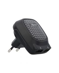 Incarcator Retea 3.1A Xenic Dual USB Black (max total 3.1A, max single port 2.4A, led indicator)