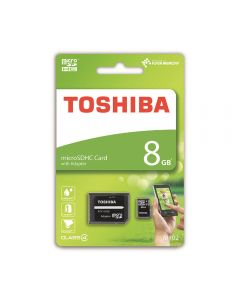 Card Memorie Toshiba Flash Memory MicroSDHC 8 GB Clasa 4 + Adaptor SD