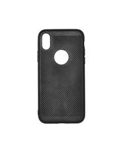 Husa iPhone X Just Must Silicon Simo Soft Black (gaurele pentru disiparea caldurii)