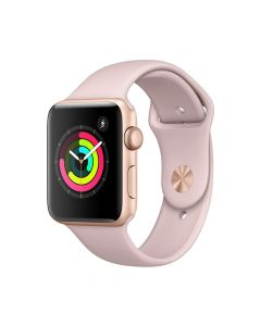 Apple Watch 3 GPS Gold Aluminium Case 42 mm cu Pink Sand Sport Band