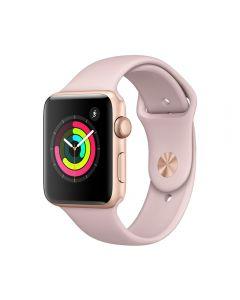 Apple Watch 3 GPS Gold Aluminium Case 42 mm cu Pink Sand Sport Band