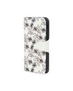 Husa Samsung Galaxy J3 (2017) Lemontti Book Art Tropical White Leaves