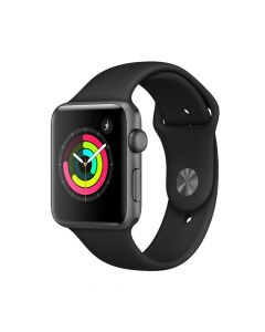 Apple Watch 3 GPS Space Grey Aluminium Case 42 mm cu Black Sport Band