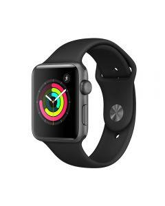 Apple Watch 3 GPS Space Grey Aluminium Case 42 mm cu Black Sport Band