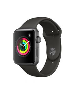 Apple Watch 3 GPS Space Grey Aluminium Case 42 mm cu Grey Sport Band