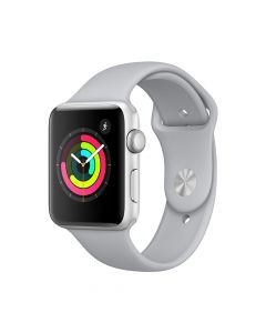 Apple Watch 3 GPS Silver Aluminium Case 42 mm cu Fog Sport Band