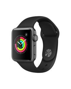 Apple Watch 3 GPS Space Grey Aluminium Case 38 mm cu Black Sport Band