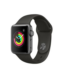 Apple Watch 3 GPS Space Grey Aluminium Case 38 mm cu Grey Sport Band