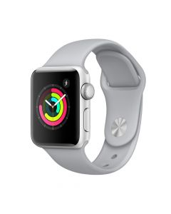 Apple Watch 3 GPS Silver Aluminium Case 38 mm cu Fog Sport Band