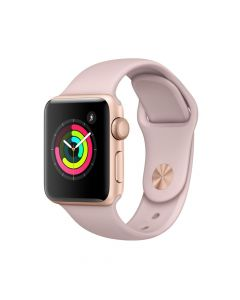 Apple Watch 3 GPS Gold Aluminium Case 38 mm cu Pink Sand Sport Band