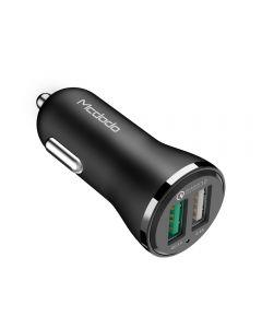 Incarcator Auto Mcdodo Qualcomm 3.0 5.4A Dual USB Black (portul QC3.0 max 3A, portul USB max 2.4A)