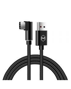 Cablu Type-C Mcdodo Glory Series Black (5A, unghi 90°, 1m)