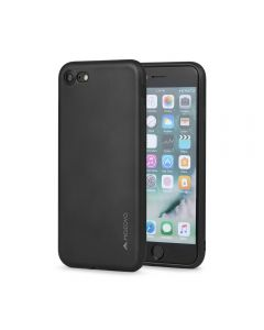 Husa iPhone 8 / 7 Meleovo Silicon Soft Slim Black (aspect mat)