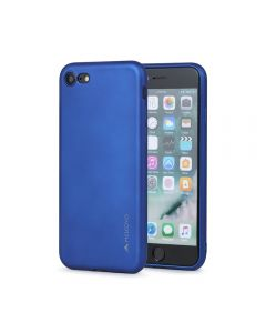 Husa iPhone 8 / 7 Meleovo Silicon Soft Slim Blue (aspect mat)