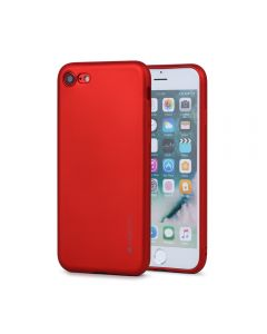 Husa iPhone 8 / 7 Meleovo Silicon Soft Slim Red (aspect mat)