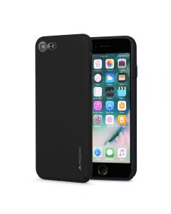 Carcasa iPhone 8 / 7 Meleovo Metallic Slim 360 Black (culoare metalizata fina)