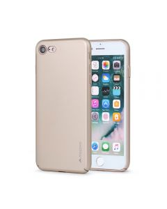 Carcasa iPhone 8 / 7 Meleovo Metallic Slim 360 Gold (culoare metalizata fina)