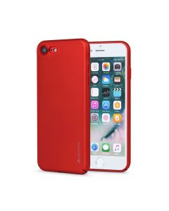 Carcasa iPhone 8 / 7 Meleovo Metallic Slim 360 Red (culoare metalizata fina)