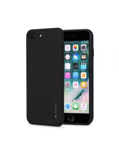 Carcasa iPhone 8 Plus / 7 Plus Meleovo Metallic Slim 360 Black (culoare metalizata fina)