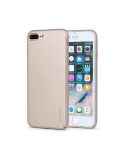 Carcasa iPhone 8 Plus / 7 Plus Meleovo Metallic Slim 360 Gold (culoare metalizata fina)