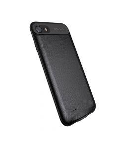 iPhone 7 Mcdodo Power Case Black 2500 mAh (piele, margini flexibile, output 1A)