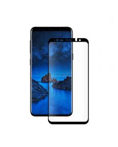 Folie Samsung Galaxy S9 G960 Eiger Sticla 3D Case Friendly Clear Black (0.33mm, 9H, curved, oleophob