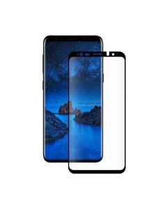 Folie Samsung Galaxy S9 Plus G965 Eiger Sticla 3D Case Friendly Clear Black (0.33mm, 9H, curved, ole