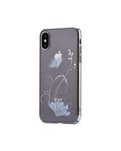 Carcasa iPhone X / XS Devia Lotus Silver