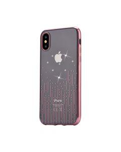 Husa iPhone X Devia Silicon Meteor Rose Gold