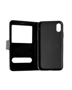 Husa iPhone X Meleovo Book Window Black