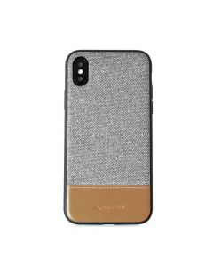 Carcasa iPhone X Meleovo Fabric Gray