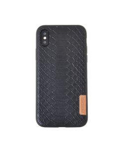 Carcasa iPhone X Meleovo Python Black