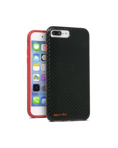 Carcasa iPhone 8 Plus / 7 Plus / 6 Plus Impact Gel Sentinel Slim Carbon Black-Red (Xtreme Armour)