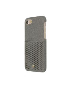 Carcasa iPhone 7 Just Must Mercedes Grey (material textil si slot de card)
