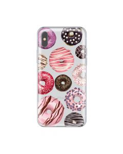 Husa iPhone X Lemontti Silicon Art Donuts