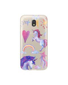 Husa Samsung Galaxy J5 (2017) Lemontti Silicon Art Unicorn