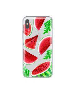 Husa iPhone X Lemontti Silicon Art Watermelon