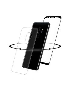 Folie Samsung Galaxy S9 Plus G965 Eiger Sticla 3D 360° Clear Black